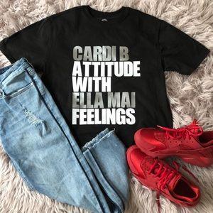 New! Cardi Attitude. Ella Mai Feelings - Black